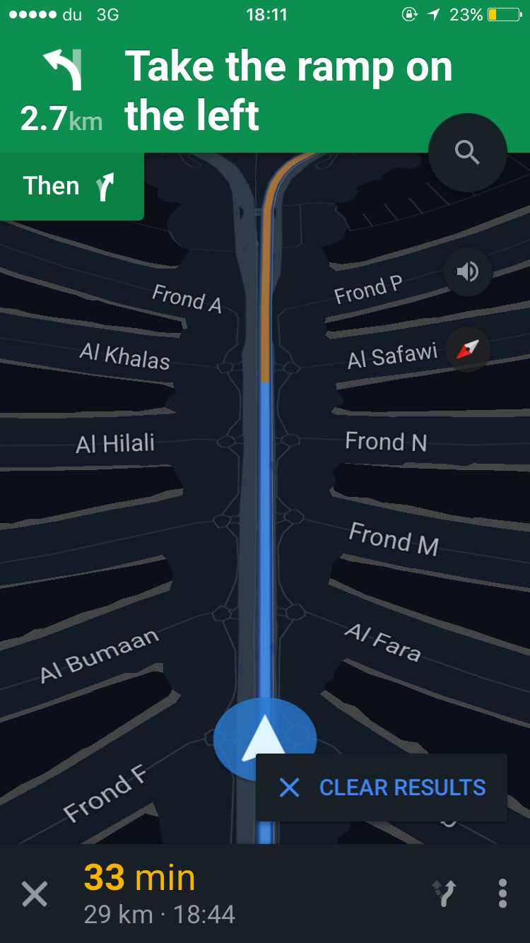View of Google Maps in Palm Island