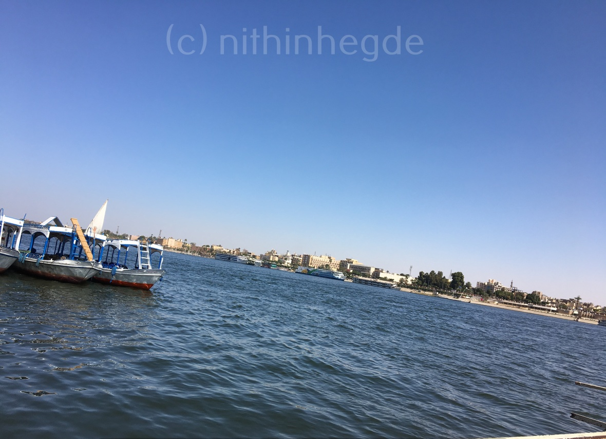 Nile river view in luxor