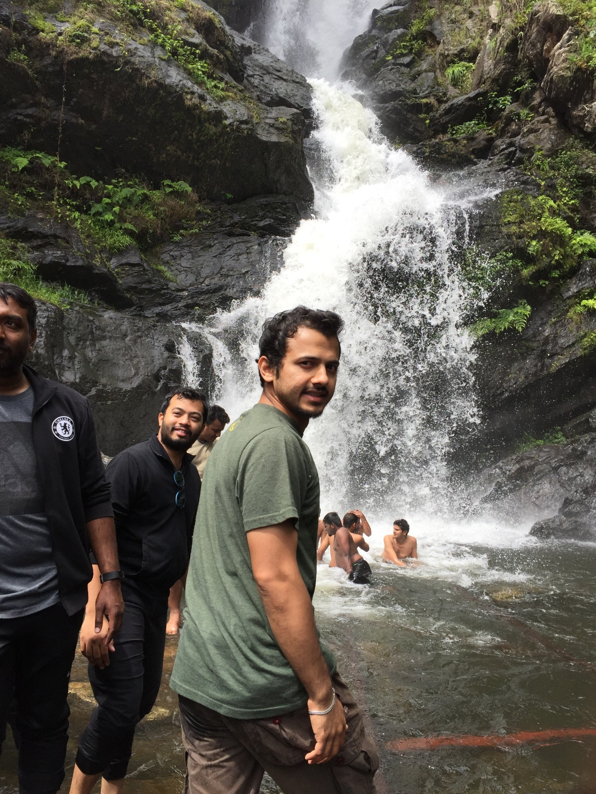 At Irpu waterfall