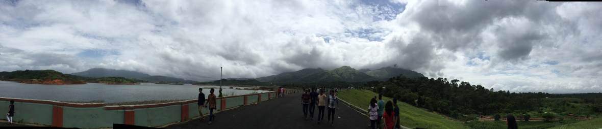Panoramic View of Banasura Sagar Dam