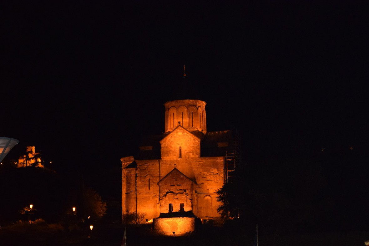 View of Mekethi Church from Rike Park in the Night