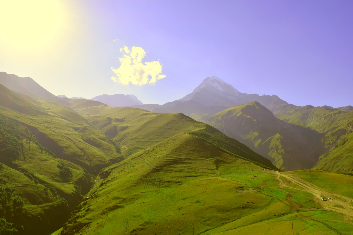 View of Mount Kazbegi :)
