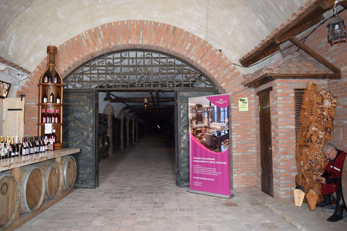 Entrance to the tunnel of Winery Khareba
