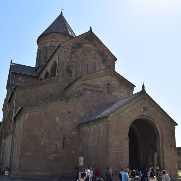 View of Svetitskhoveli Cathedral