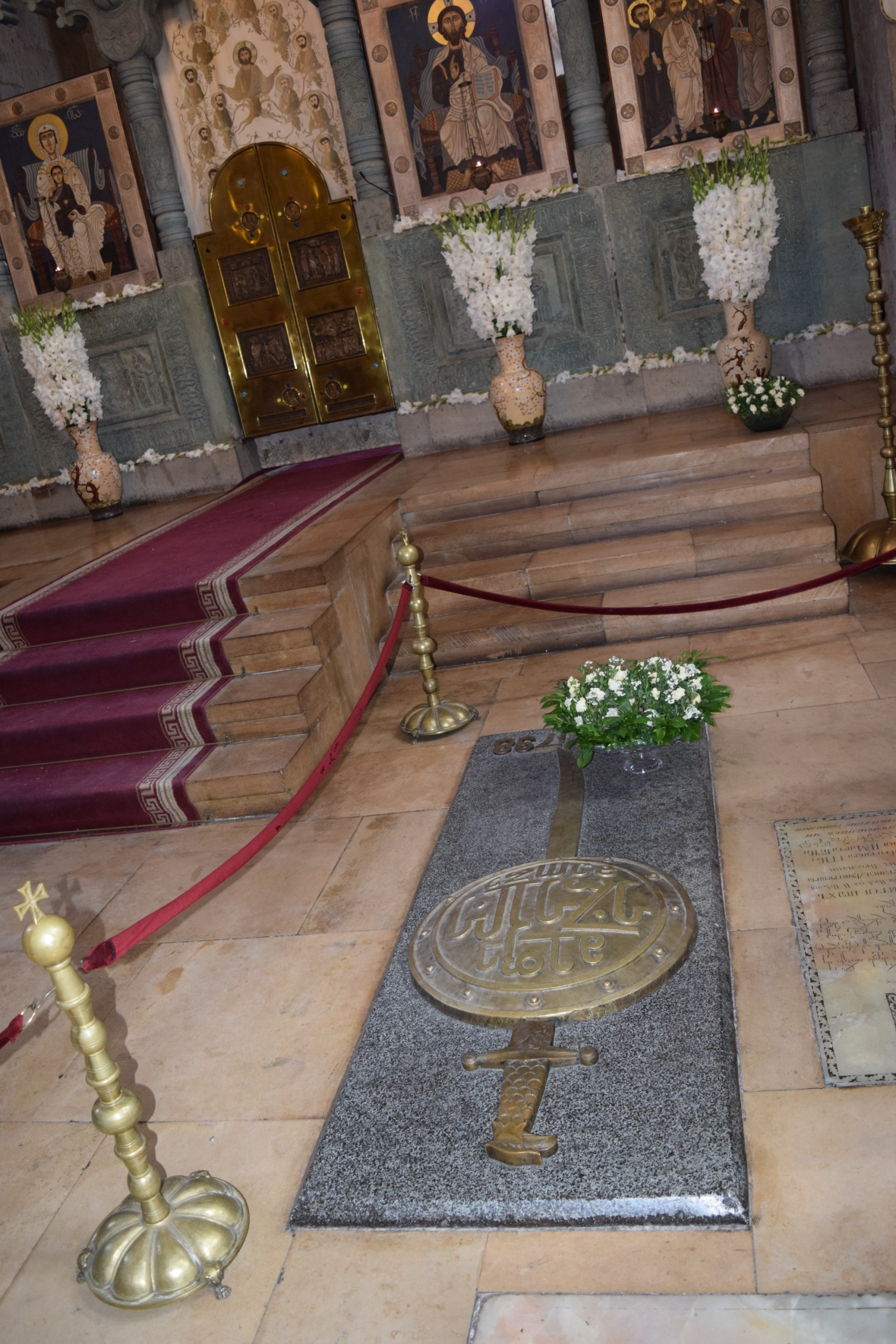 Buried Place of one of the Georgian Kings inside Svetitskhoveli Cathedral