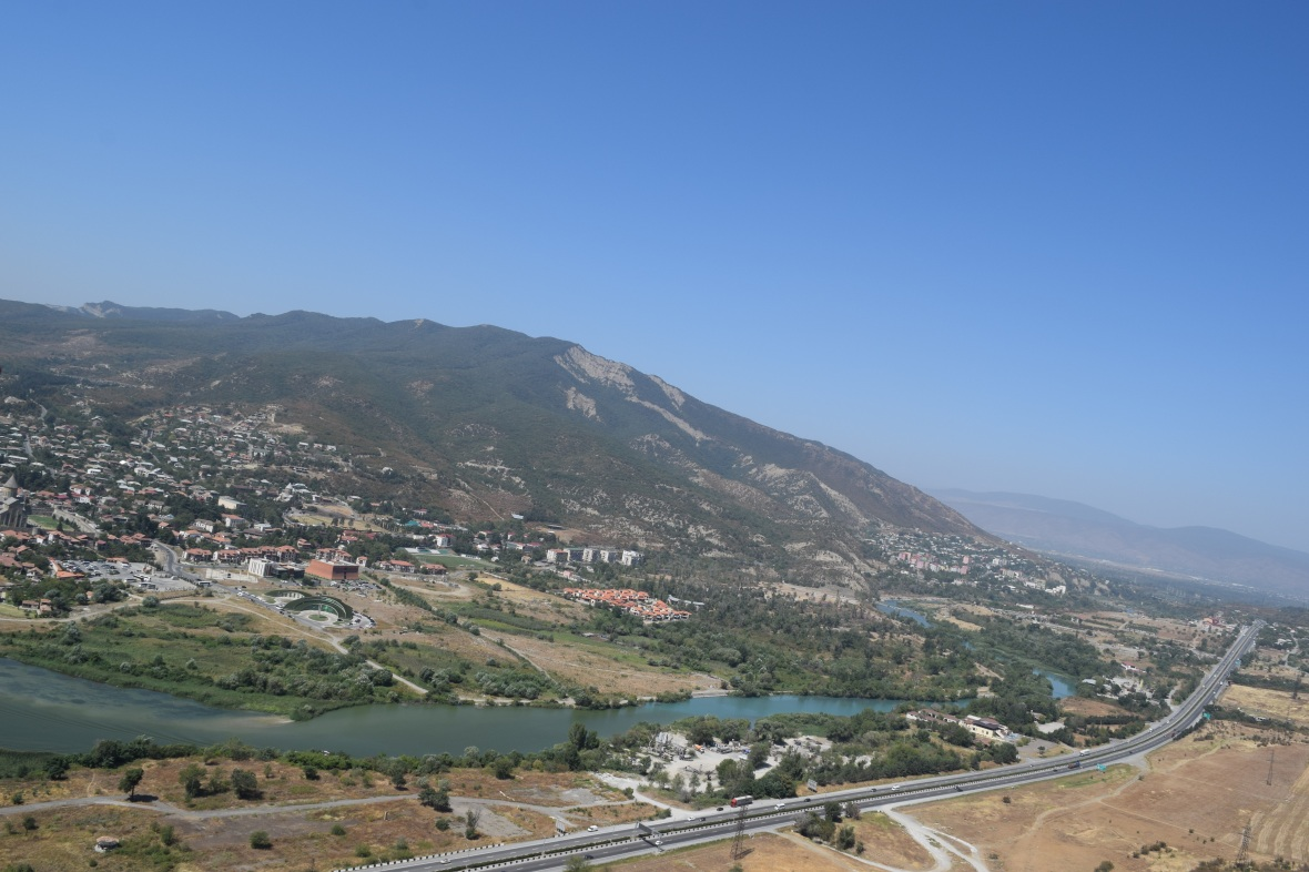 View from Jvari Monastery