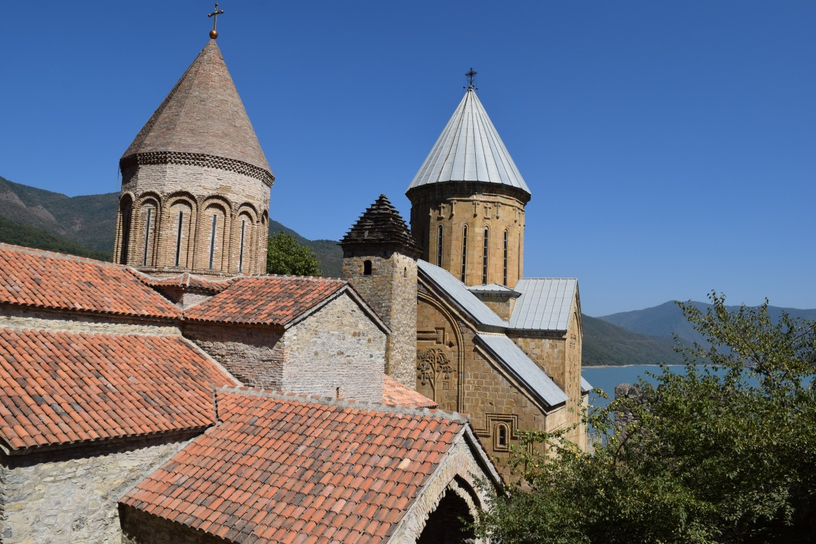 View of Churches in Ananuri Fortress
