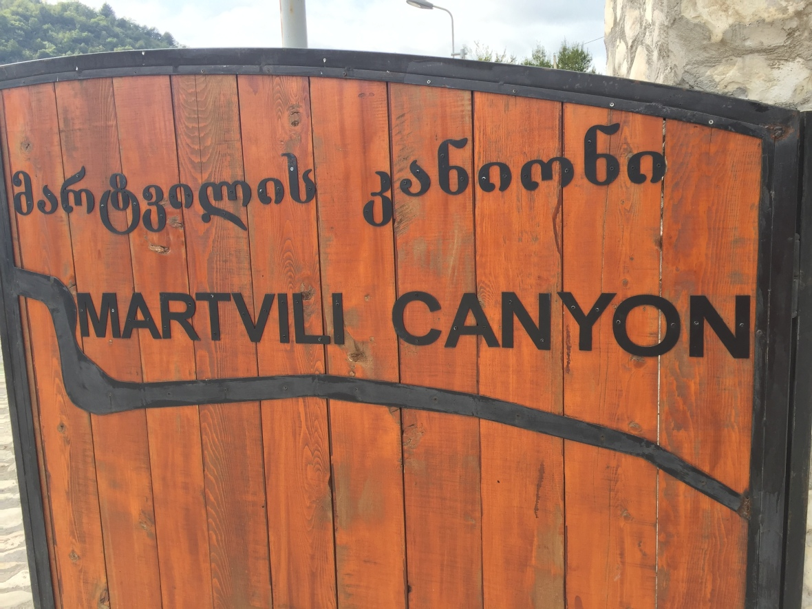 Entrance to Martvili Canyon